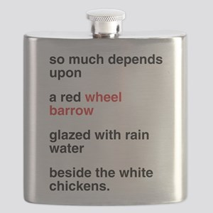 Red Wheel Barrow Flask
