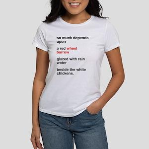 Red Wheel Barrow Women's Classic White T-Shirt