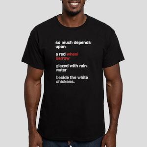 Red Wheel Barrow Men's Fitted T-Shirt (dark)