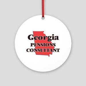 Georgia Pensions Consultant Round Ornament
