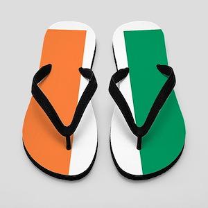 modern ireland irish flag Flip Flops