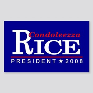 CONDOLEEZZA RICE PRESIDENT 20 Sticker (Rectangular