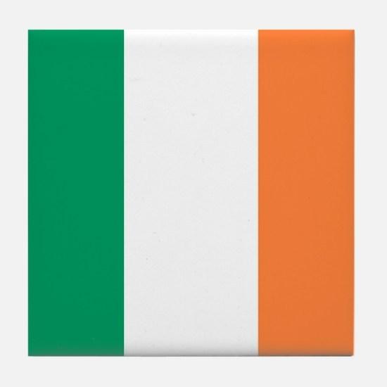 modern ireland irish flag Tile Coaster