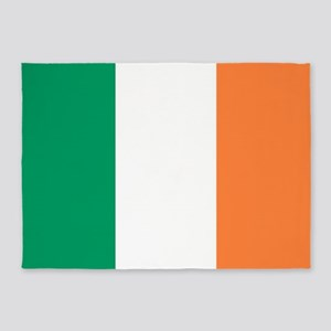modern ireland irish flag 5'x7'Area Rug