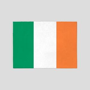 modern ireland irish flag 5'x7'Area Rug