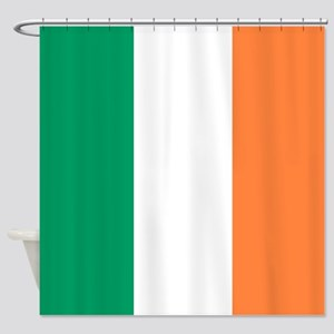 modern ireland irish flag Shower Curtain