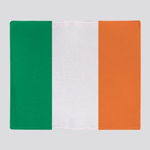 modern ireland irish flag Throw Blanket