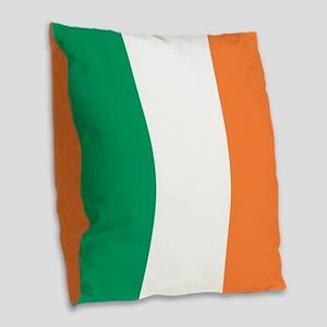 modern ireland irish flag Burlap Throw Pillow