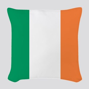 modern ireland irish flag Woven Throw Pillow