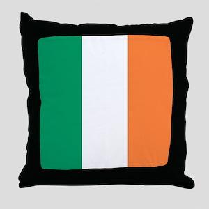 modern ireland irish flag Throw Pillow