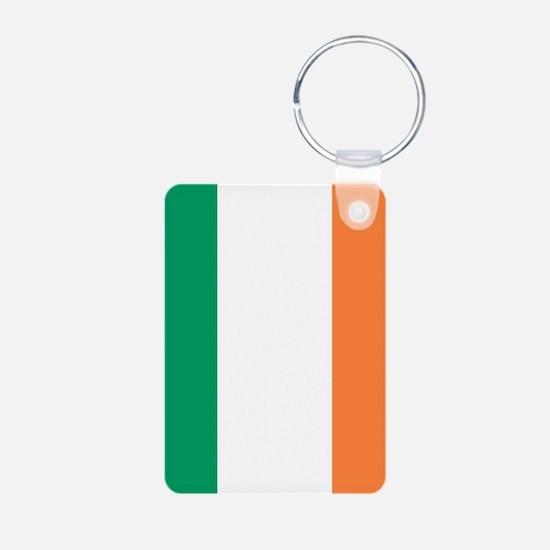 modern ireland irish flag Keychains