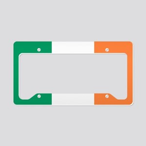 modern ireland irish flag License Plate Holder