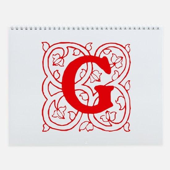 Initial G Wall Calendar