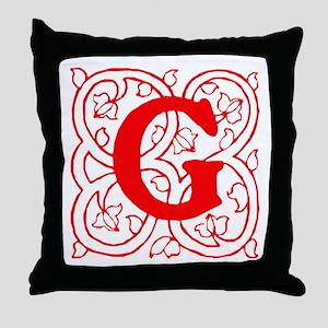 Initial G Throw Pillow
