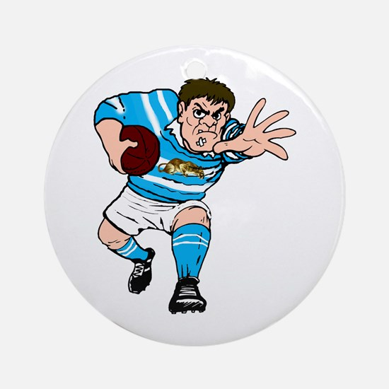 Argentina Rugby Forward Round Ornament