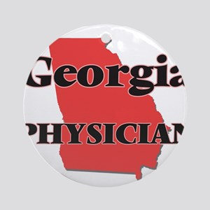 Georgia Physician Round Ornament