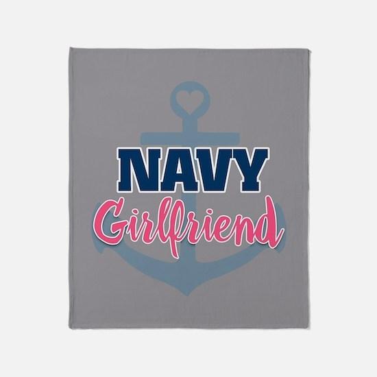 US Navy Girlfriend fb Throw Blanket
