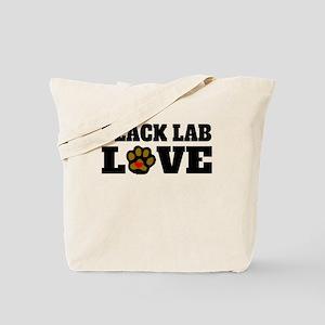 Black Lab Love Tote Bag
