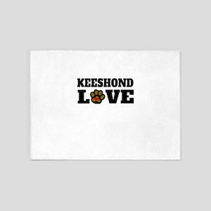 Keeshond Love 5'x7'Area Rug