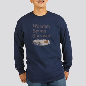 Vintage Wooden Spoon Survivor Long Sleeve T-Shirt