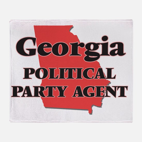 Georgia Political Party Agent Throw Blanket