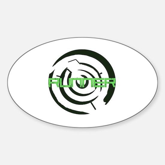 Runner in the Maze Sticker (Oval)