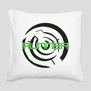 Runner in the Maze Square Canvas Pillow