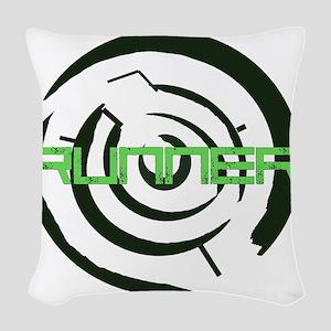 Runner in the Maze Woven Throw Pillow