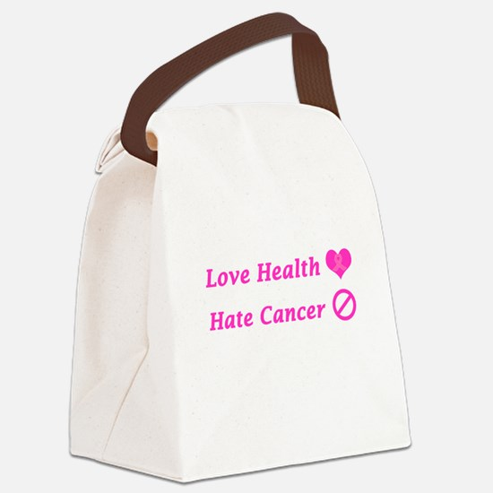 Love Health, Hate Cancer Charity Canvas Lunch Bag