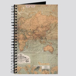 Antique world maps notebooks cafepress vintage map of the world 1870 journal gumiabroncs Images