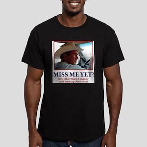 George W Bush - Miss M Men's Fitted T-Shirt (dark)