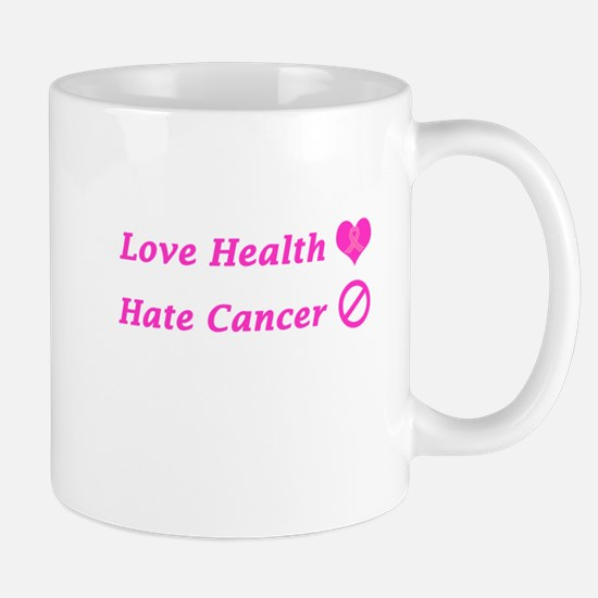 Love Health, Hate Cancer Charity Design Mugs