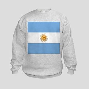 Argentinian pride argentina flag Kids Sweatshirt