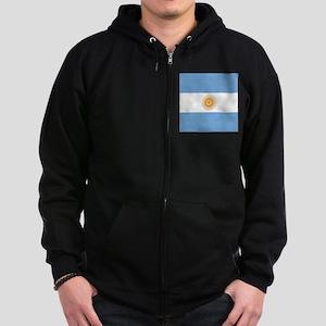 Argentinian pride argentina flag Zip Hoodie (dark)