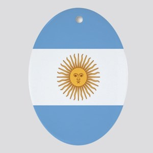 Argentinian pride argentina flag Oval Ornament