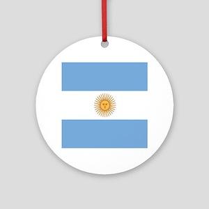 Argentinian pride argentina flag Round Ornament