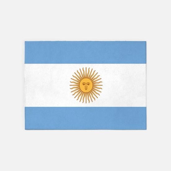 Argentinian pride argentina flag 5'x7'Area Rug