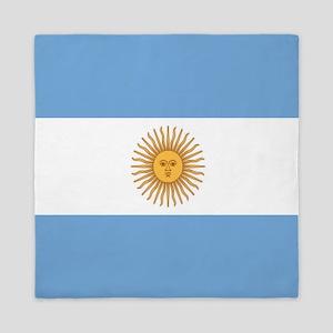 Argentinian pride argentina flag Queen Duvet