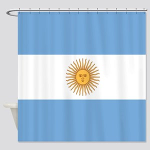 Argentinian pride argentina flag Shower Curtain