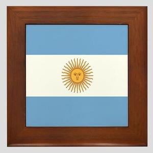 Argentinian pride argentina flag Framed Tile