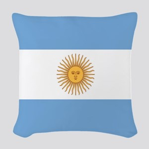Argentinian pride argentina fl Woven Throw Pillow