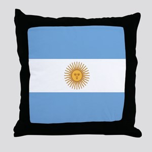 Argentinian pride argentina flag Throw Pillow