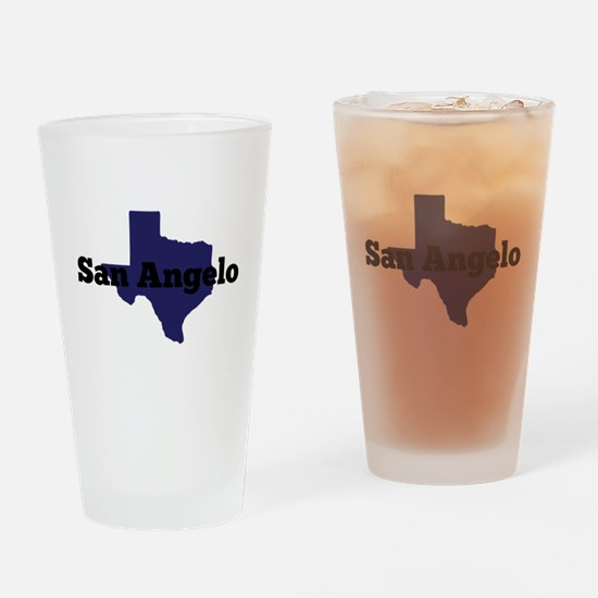 Texas - San Angelo Drinking Glass