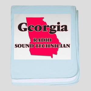 Georgia Radio Sound Technician baby blanket