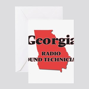 Georgia Radio Sound Technician Greeting Cards