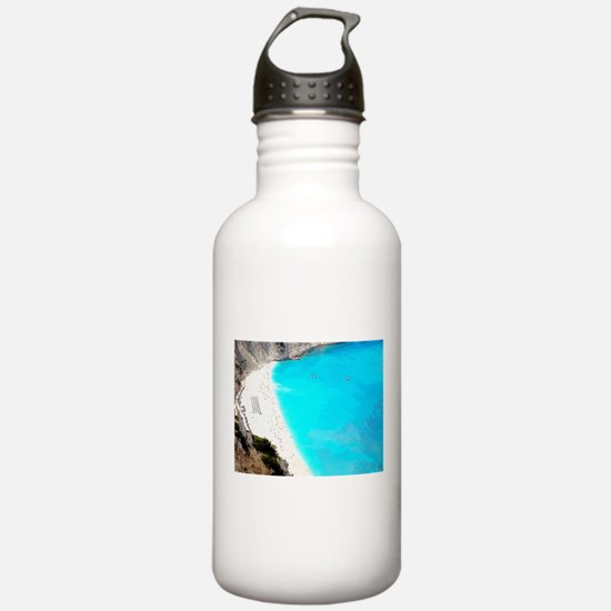 Myrtos of Greece Water Bottle