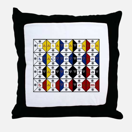 Enochian Tablet of Union Engl Throw Pillow