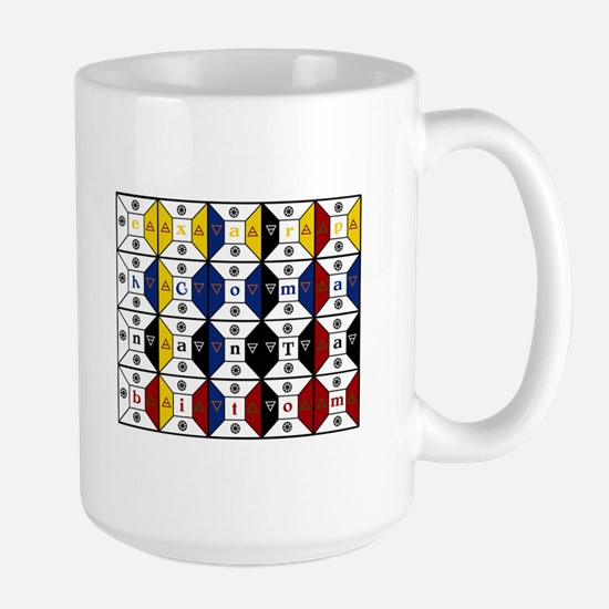 Enochian Tablet of Union Engl Large Mug