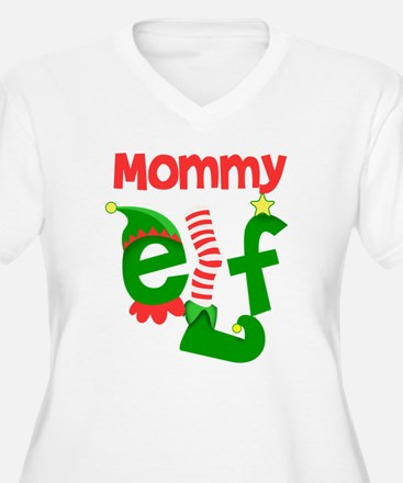 Mommy Elf Plus Size T-Shirt