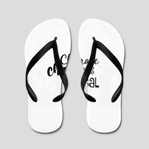 Climate Change is Real Flip Flops